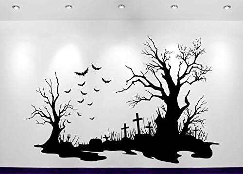 63x42cm Halloween Friedhof Szene Decal Hot Sale Home Dekoration Wand Sticker Sofa Hintergrund Dekor Adesivo De Parer