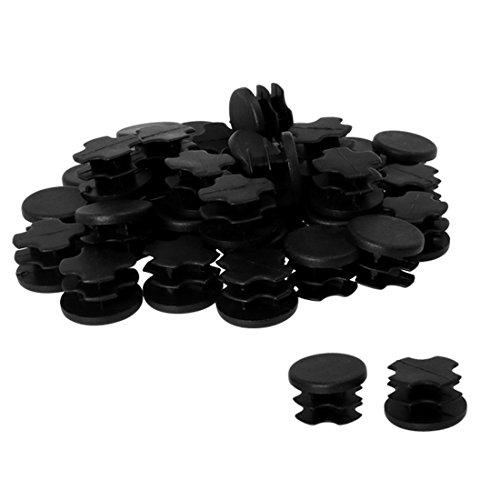 uxcell Kunststoff rund Tube legen Glide Gap Cover Pad für Boden Möbel Stuhl Tisch Bein Fitness EQPT Kappen, a18053100ux0079, 40pcs, 19mm