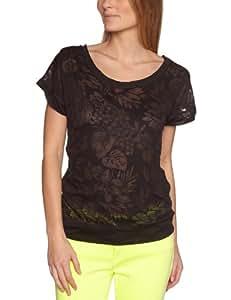 Roxy Clouds Patterned Women's T-Shirt CRS Hawaiian AN Black Large