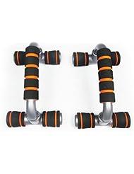 Anano Push UPS Cadre, maison de fitness, maison d'entraînement musculaire, H-type pompes Équerre avec poignées en mousse antidérapant pour la musculation–Noir et Orange