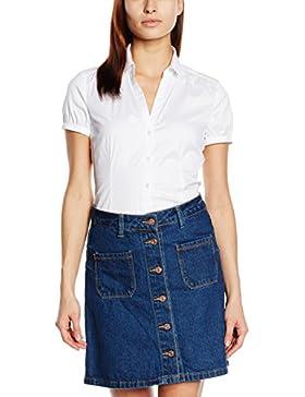 ESPRIT Collection Damen Bluse mit Stretch Kurzarm