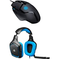 Pack Logitech souris Gaming G402 Hyperion Fury + micro-casque Gaming pour PC/PS4 G430