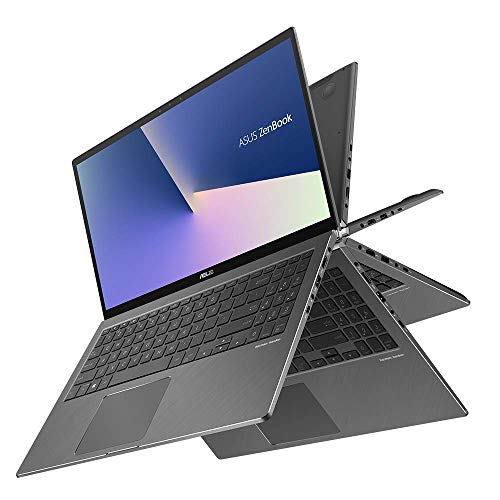 Asus Zenbook Flip 15 UX562FA 90NB0LK1-M00360 Convertible Laptop (39, 6 cm, 15, 6 Zoll, FHD, Wv, Touch, Intel Core i5-8265U, 8GB RAM, 256GB SSD, Intel UHD-Grafik 620, Windows 10) grey Asus Quad Core Laptop