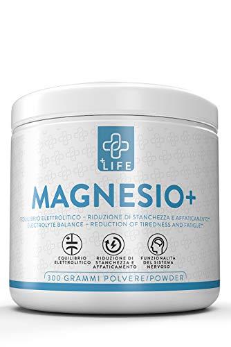 PIULIFE Magnesio+ 430mg di Magnesio Per Dose Come Magnesio Supremo Natural Point 300g di Magnesio in Polvere Aiuta la Memoria e Contrasta la Stanchezza
