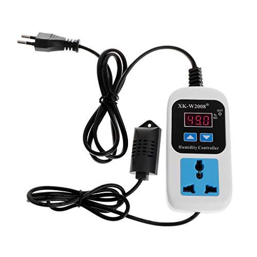 BIlinli Feuchtigkeitsreglerausgang 110V 220V 10A Direktausgang Hygrometer Feuchtigkeitsregler Schaltsteckdose 0~99% rF
