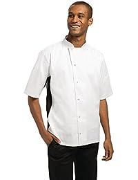 Amazon.it  bottoni automatici - Giacche da chef   Ristorazione ... 5609a4d80397