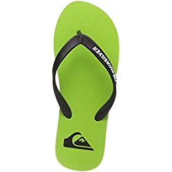Quiksilver Molokai, Zapatos de Playa y Piscina para Hombre, Verde Green/Black Xkgk, 43 EU