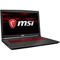 MSI GV72 8RD-022DE (43,9 cm/17,3 Zoll) Gaming-Notebook (Intel Core i5-8300H, 8GB RAM, 1 TB HDD, Nvidia GeForce GTX 1050 Ti, FreeDos) schwarz/grau-anthrazit