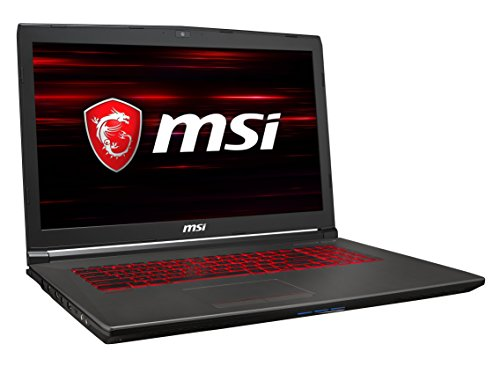 MSI GV72 8RD-010DE (43,9 cm/17,3 Zoll) Gaming-Notebook (Intel Core i5-8300H, 8GB RAM, 256 GB SSD + 1 TB HDD, Nvidia GeForce GTX 1050 Ti, Windows 10 Home) schwarz/grau-anthrazit