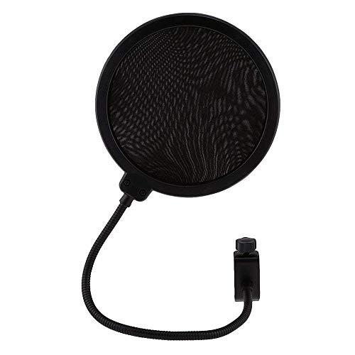 Ogquaton Mikrofon, winddicht, doppelschichtig, Anti-Spray-Abdeckung, Mikrofon-Schutzfolie, Geräuschreduzierung, für Aufnahme 1 PC