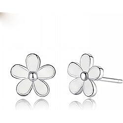 AN Sweet Wind Daisy Earrings Sterling Silver Jewelry Moda Mujer Accesorios,A,Un Tamaño