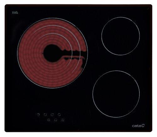 CATA TT 603 - Placa Vitrocerámica Tt603 Con 3 Zonas De Cocción