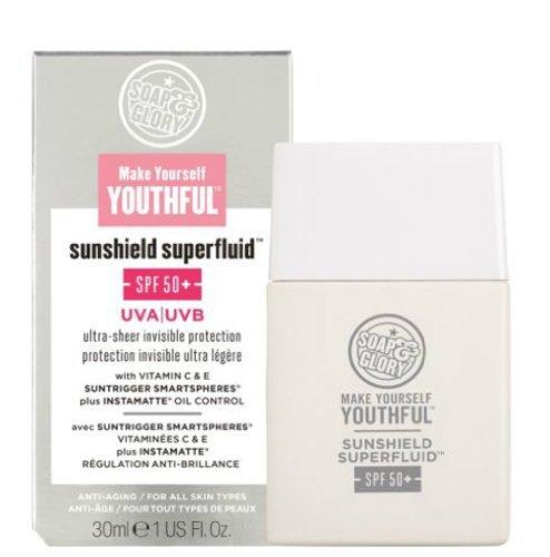 Soap And Glory Make Yourself Youthful Sunshield Superfluid SPF50+