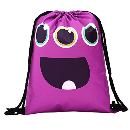 Godatila Womens Cute Nylon Taschen Lagerung Bundle Seil Shopping Mode Gym Trend Faltbarer Rucksack -