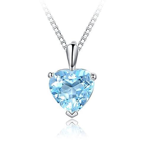 JiangXin Beaux Bijoux Collier Pendentif en Argent Sterling 925 en
