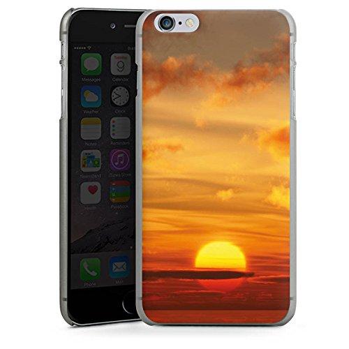 Apple iPhone 5s Housse Étui Protection Coque Coucher de soleil Ciel Nuages CasDur anthracite clair