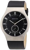 Bering Time Herren-Armbanduhr XL Radio-Controlled Analog Leder 51940-402