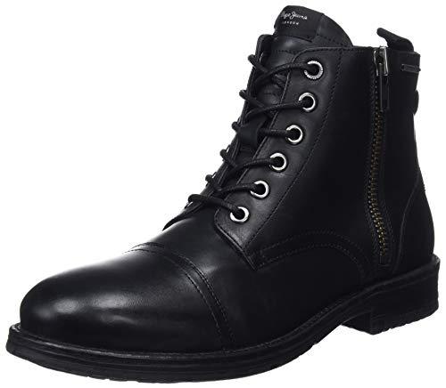Pepe Jeans London Tom-Cut Med Boot, Botas Clasicas para Hombre, Negro Black 999, 45 EU