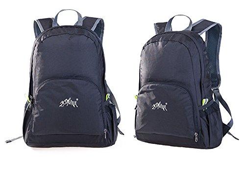 aonijie impermeabile in nylon, pieghevole e portatile zaino scuola borse da viaggio campeggio zaino da escursionismo, Army Green Black