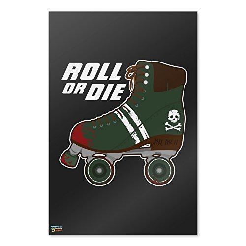Graphics and More Rollschuhe Derby Rolle oder sterben Combat Stiefel Krieg Punk Home Business Büro Schild–Poster–61x 91,4cm (61x 91cm)