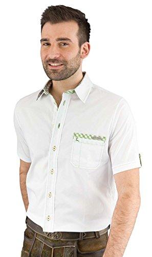 Spieth & Wensky Trachtenhemd Herren kurzarm Bert-He KA 250051-859/2283 weiß/grün 35/36