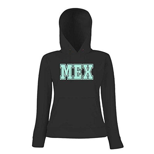 MEX Premium Hoody | Airport-Hoody | Mexico | Reisen | Frauen | Kapuzenpullover © Shirt Happenz Schwarz