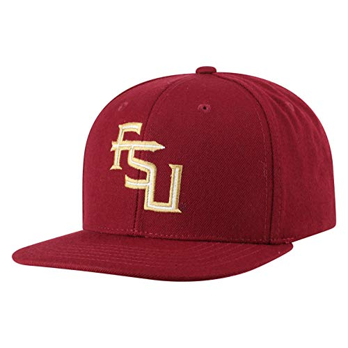 Top of the World NCAA Florida State Seminoles Men's Flat Brim Snap Back Team Icon Hat, Garnet (Seminoles Hat Florida State)
