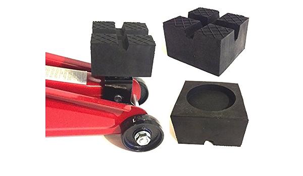 Addys Onlinesale 85x85x50mm Mit 2xv Nut Waffel Und Aussparung Gummiauflage Für Wagenheber Und Hebebühnen Auto