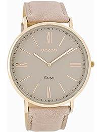Oozoo Damen-Armbanduhr Analog Quarz Leder C7342