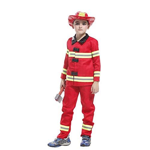 Kostüm Weibliche Feuerwehrmann - HalloweenKostüm Kinder Weihnachten Karneval Halloween Maskerade Make-up Kind Feuerwehrmann Cosplay Kostüm