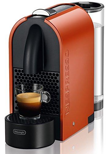 DeLonghi EN 110.O Nespresso U Kapselmaschine (0,8 Liter Wasserbehälter)  orange-grau
