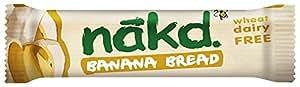 Nakd Banana Bread Raw Fruit, Nut and Oat Bar 30 g (Pack of 18)