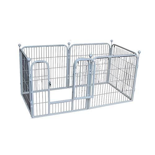 XCLLL Cerca del Animal doméstico Perros pequeños/medianos / Grandes, Adecuado para Interior Golden Retriever Teddy, Etc. Propósito General, Durable Estable,White,80 * 80 * 80cm