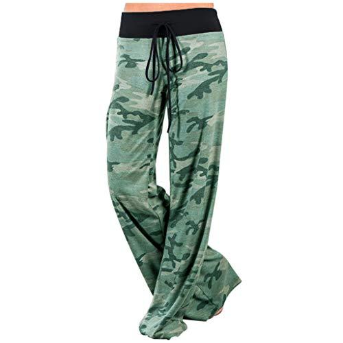 Freizeithose Damen Camouflage Sweatpants Loose Lange Strecke Sporthose Nähen Hautfreundliche Pants Baggy Hose Fitness Lange Stretch Schlaghose Elastische Taille Yogahosen Leggings