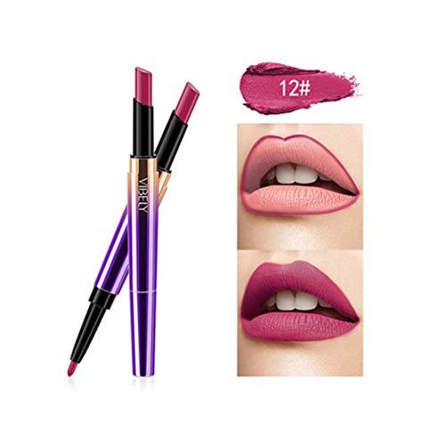 Kltipeng Doppel-Ende Lasting Lipliner wasserdicht Lip Liner Stick Bleistift 16 Farbe(L) -