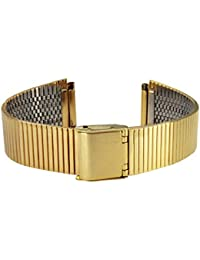 Citime Gold Stainless Steel Strap Replacement for Brushed Finish, Hook Buckle, 18mm Band _ S18013