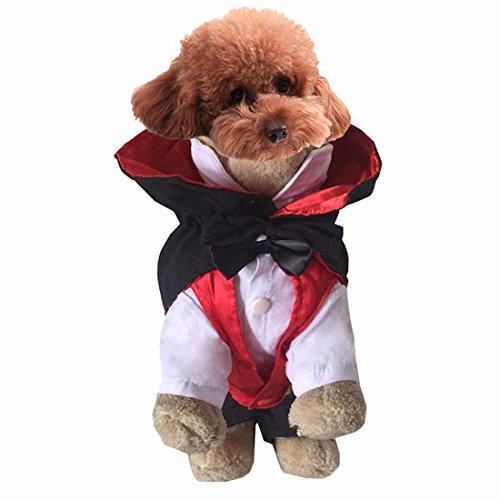 Lustige Vampirs-Hundehaustier-Kapuzenpulli-Kleidung Halloween-Hundekostüm plus Größen-Klage-Teddybär, das oben Kleidungs-Kleid-Kleid XS-XL (Kostüme Dress Fancy Verwendet)