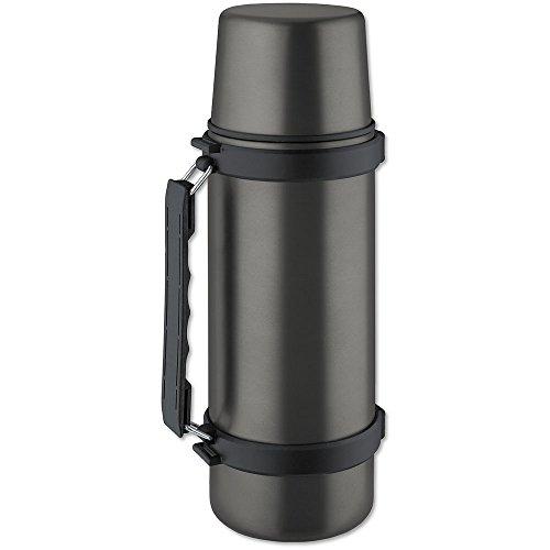 Isosteel VA-9553QAT Isolierflasche 1,0 L, 18/8 Edelstahl, Quickstop-Einhandausgießsystem,...