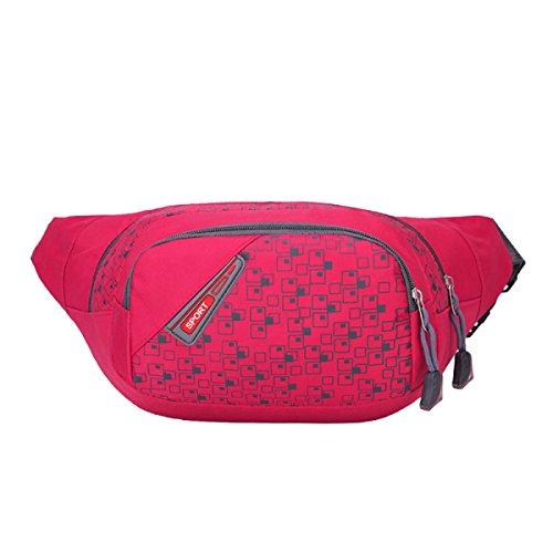 Multifunktionale Outdoor-Sport-Fitness-Taschen Mehrfarbig Pink