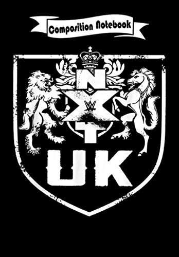 Composition Notebook: WWE NXT UK Crest Graphic, Journal 6 x 9, 100 Page Blank Lined Paperback Journal/Notebook