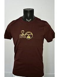 Craghoppers Mens Graphic Casual Cotton Walking Hiking Logo T-shirt in Merlot Purple Burgandy