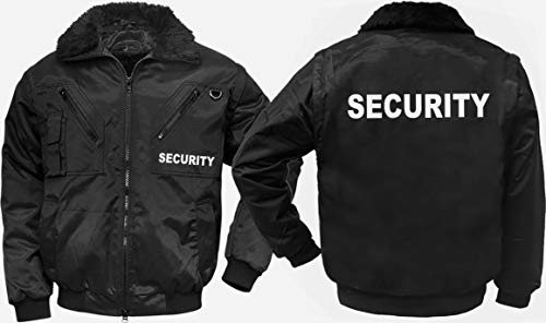 """4-in-1-Dienstjacke/Securityjacke""""JUBILEE"""", schwarz, Gr. L, mit""""SECURITY""""-REFLEX-DRUCK"""
