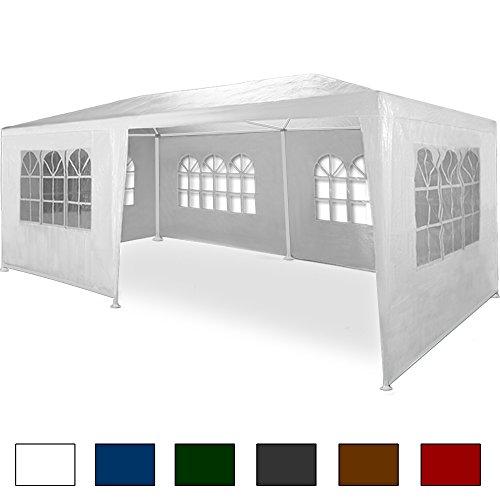 Preisvergleich Produktbild Deuba Festzelt Rimini 3x6m weiß | UV-Schutz 50 + | Wasserabweisend | 18m² | Festival Pavillon | 6 aufrollbare Seitenwänden | 18 Rundbogenfenster | Modell 2018 | Farbauswahl