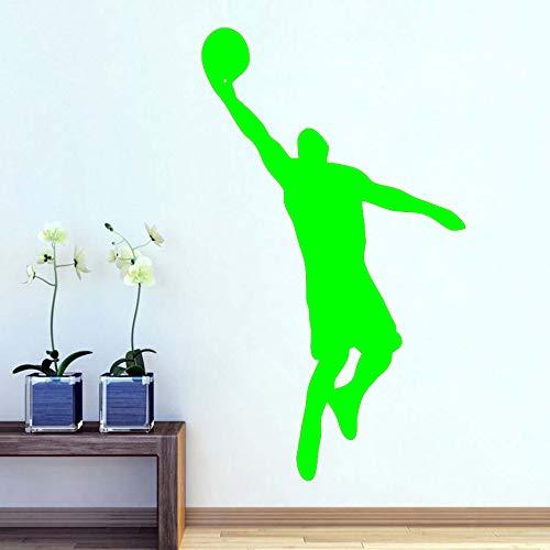 Basketball Player Wandaufkleber Basketball Sport Spieler Wandtattoo Entfernbare Wand Hintergrund Dekoration Diy Vinyl Wandkunst ~ 1 58 * 100 cm -