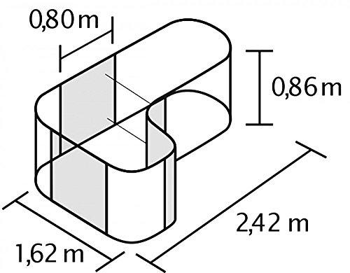 Hochbeet Basic Plus Curve aus Zincalume® Dunkelgrau 1,62 x 2,42 x 0,86 m -