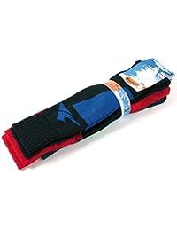 Chaussettes de ski hautes Homme motifs Longboard lot de 3