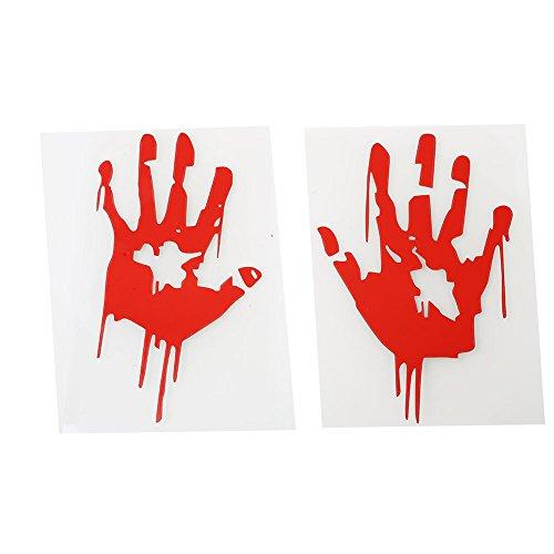 Kicode Halloween Horror Blut Handabdrücke Blutgefärbt Wandaufkleber Art Decal Scary Home Wohnzimmer KTV Bar Party Dekore personalisiert abnehmbar