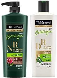TRESemme Botanique Nourish and Replenish Shampoo, 580ml & TRESemme Detox and Restore Conditioner 1