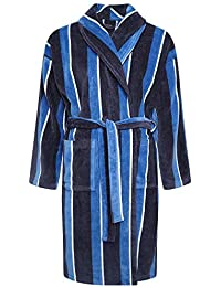 1080c23e47 Mens Towel Dressing Gown Robe 100% Cotton Navy Blue Grey Mocha White Hotel  Towelling Terry