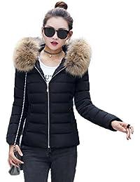 Reaso Femmes Parka Hiver Doudoune Chaud Cardigan Mode Pullover Elegant  Manteau Solide Pardessus Blouson Manteau Manches 6e3989e0464